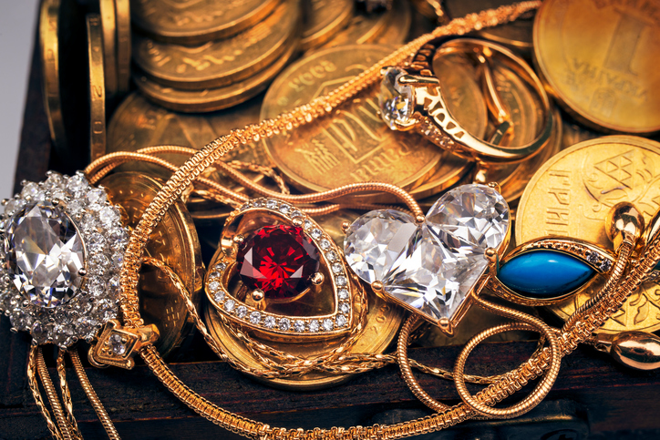 Gold Jewelry and Coins